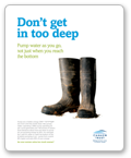 Don't get in too deep - Poster